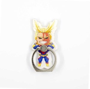 All Might my hero academia anime manga bague anneau support 360 degres phonebague specialiste2