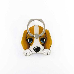 Calinou chien tout mignon bague support anneau 360 degres Phonebague spécialiste3