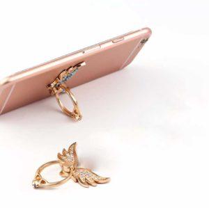 angele bague support anneau telephone aile diamant solitaire 360 degrée phonebague specialiste v4
