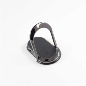 bagovale bague anneau support allongé noir metal pour telephone 360 degres phonebague specialiste v2