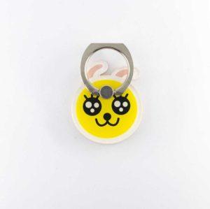 bigeyes gros yeux tout mignon jaune bague support anneau pour telephone 360 degres Phonebague specialiste
