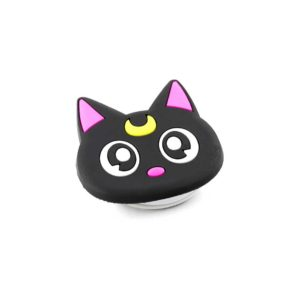 chacha chatlune airbag chat noir lune jaune bague support anneau pour telephone phonebague specialiste2