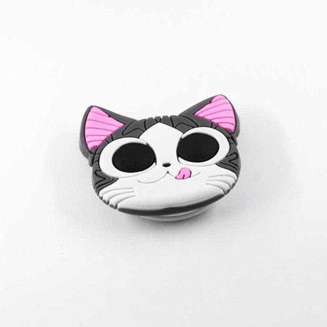 chacha chatmalin airbag chat gris bague support anneau pour telephone phonebague specialiste3