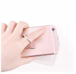 chatoyant rose main bague anneau support telephone tete de chat phonebague specialiste
