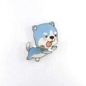 choupi chien bleu mignon bague support anneau pour telephone 360 degres phonebague specialiste2