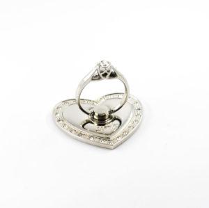 iloveu bague anneau support video coeur solitaire diamant 360 degres phonebague specialiste v1