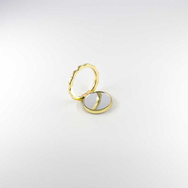 kiestlaplubelle bague support anneau or jaune doré metal magnetique voiture 360 degres phonebague specialiste