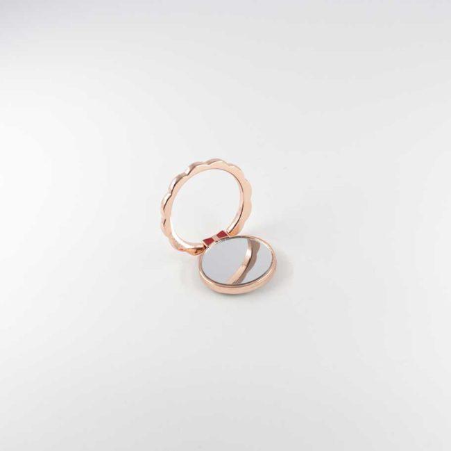 kiestlaplubelle bague support anneau rose or metal magnetique voiture 360 degres phonebague specialiste v1