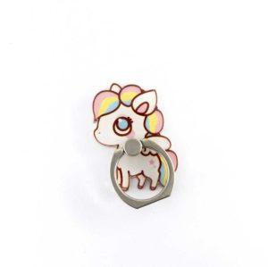 lilipose poney licorne multicolore bague anneau support pour telephone 360 degres phonebague specialiste