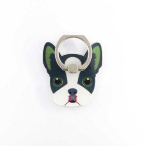 ouaff chien carlin bulldog bague support anneau pour telephone 360 degres phonebague specialiste
